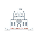 Vector castle. Perfect logo for luxury real estate Stock Photography