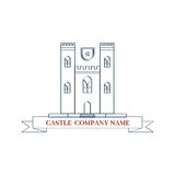 Vector castle. Perfect logo for luxury travel Royalty Free Stock Photos