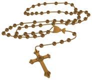 Vector católico elegante del rosario de Brown Imagenes de archivo