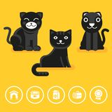 Vector cat icon in flat style Stock Photography