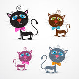 Vector Cat Illustration Set Stock Images
