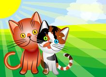 vector Cat`s love Stock Photo