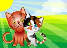 vector Cat`s love Stock Photo