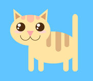 Vector cat. Vector style funny cute cat Stock Image