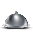Vector catering tray covered chrome Stock Image