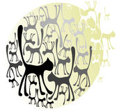 Vector cats Royalty Free Stock Photography