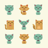 Vector cats Royalty Free Stock Photos