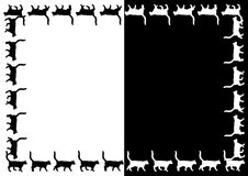 Vector Cats frame. Royalty Free Stock Photography