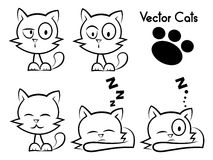 Vector cats Stock Photography