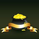 Vector cauldron full of gold coins. Illustration Vector Illustration