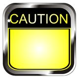 Vector Caution sign. Vector color Caution sign illustration Royalty Free Stock Images