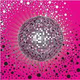 Vector CD Cover design with disco-ball stock illustration
