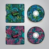 Vector CD cover design Stock Photography