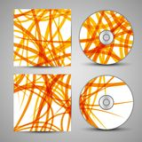 Vector cd cover set for your design Royalty Free Stock Images
