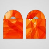 Vector cd cover set for your design, abstract Royalty Free Stock Images