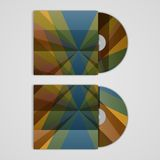 Vector cd cover set for your design, abstract Royalty Free Stock Photo