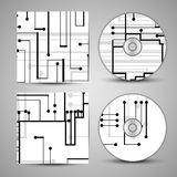 Vector cd cover set for your design Stock Photography