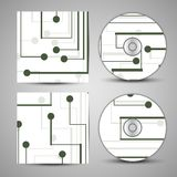 Vector cd cover set for your design Stock Image