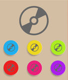 Vector CD or DVD icon with color variations Stock Image