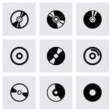 Vector cd icon set. On grey background Royalty Free Stock Photos