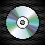 Vector CD on metal plate for your design Stock Photos