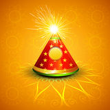 Vector celebration glowing diwali cracker. Colorful background
