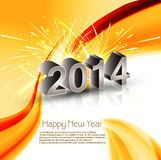 Vector Celebration shiny for wave 2014 new year. Reflection holiday background Royalty Free Stock Photo