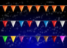 Vector celebrational party flags Stock Image