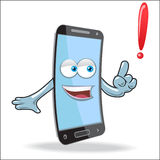 Vector Cell Mobile Mascot Royalty Free Stock Image