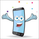 Vector Cell Mobile Mascot Stock Photos