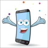 Vector Cell Mobile Mascot Stock Photos
