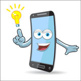 Vector Cell Mobile Mascot Royalty Free Stock Photo