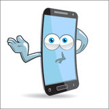 Vector Cell Mobile Mascot Royalty Free Stock Photos