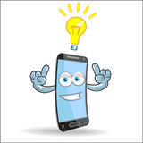 Vector Cell Mobile Mascot Stock Images