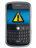 Vector cell phone / PDA / Blackberry Royalty Free Stock Image