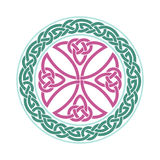 Vector celtic cross. Ethnic ornament. Geometric design Royalty Free Stock Photo