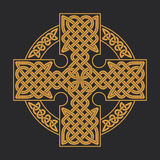 Vector celtic cross. Ethnic ornament Geometric design T-shirt pr Stock Photos