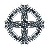 Vector celtic cross. Ethnic ornament. Geometric design. T-shirt Royalty Free Stock Images