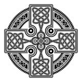 Vector celtic cross. Isolated Celtic cross from national Scandinavian ornament. Symbol of Druids, Ireland and Scotland Royalty Free Stock Images