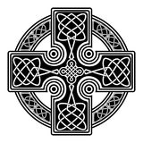 Vector celtic cross. Isolated Celtic cross from national Scandinavian ornament. Symbol of Druids, Ireland and Scotland Royalty Free Stock Photo