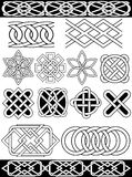 Vector celtic knots. Set - celtic patterns. Isolated over white Stock Illustration