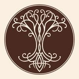 Celtic tree of life. Vector Celtic national drawing a tree of life in a circle Royalty Free Illustration