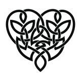 Celtic heart ornament. Vector Celtic national ornament heart shape for tattoo isolated on white background stock illustration