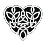 Celtic heart ornament. Vector Celtic national ornament heart shape for tattoo isolated on white background vector illustration