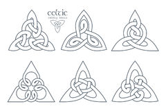 Vector celtic trinity knot part 1. Ethnic ornament. Geometric de Royalty Free Stock Photography