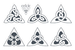 Vector celtic trinity knot part 1. Ethnic ornament. Geometric de Royalty Free Stock Image