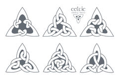 Vector celtic trinity knot part 2. Ethnic ornament. Geometric de Royalty Free Stock Photos