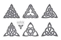 Vector celtic trinity knot part 2. Ethnic ornament. Geometric de Stock Image