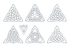 Vector celtic trinity knot part 2. Ethnic ornament.   Royalty Free Stock Images