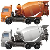 Vector cement truck stock photo